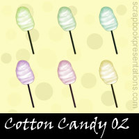 Free Cotton Candy Embellishments, Scrapbook Downloads, Printables, Kit