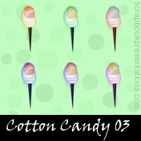 Free Cotton Candy SnagIt Stamps, Scrapbooking Printables Download