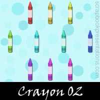 Free Crayon SnagIt Stamps, Scrapbooking Printables Download