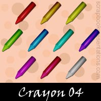 Free Crayon Embellishments, Scrapbook Downloads, Printables, Kit