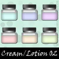 Free Cream / Lotion Embellishments, Scrapbook Downloads, Printables, Kit