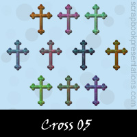 Free Cross SnagIt Stamps, Scrapbooking Printables Download
