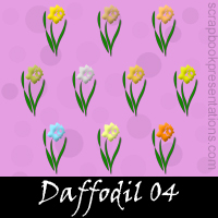 Free Daffodils Embellishments, Scrapbook Downloads, Printables, Kit