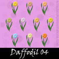 Daffodil Scrapbook Embellishments