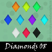 Free Playing Cards: Diamonds Embellishments, Scrapbook Downloads, Printables, Kit