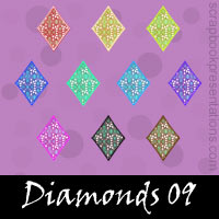 Free Playing Cards: Diamonds SnagIt Stamps, Scrapbooking Printables Download