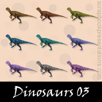 Free Dinosaurs SnagIt Stamps Scrapbook Downloads, Kit, Printables