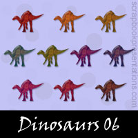 Free Dinosaurs Embellishments, Scrapbook Downloads, Printables, Kit