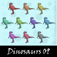 Free Dinosaurs SnagIt Stamps, Scrapbooking Printables Download