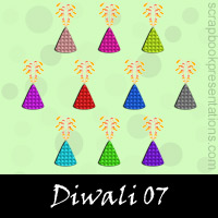 Free Diwali Embellishments, Scrapbook Downloads, Printables, Kit