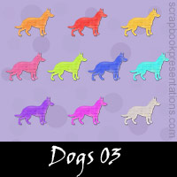 Free Dogs Embellishments, Scrapbook Downloads, Printables, Kit