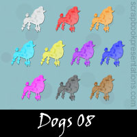 Free Dog SnagIt Stamps, Scrapbooking Printables Download