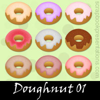 Free Doughnut SnagIt Stamps, Scrapbooking Printables Download