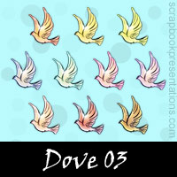 Free Peace: Dove SnagIt Stamps, Scrapbooking Printables Download