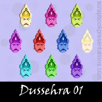 Free Dussera Embellishments, Scrapbook Downloads, Printables, Kit