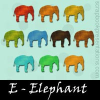 Free Elephant Embellishments, Scrapbook Downloads, Printables, Kit