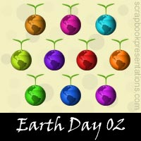 Free Earth Day Embellishments, Scrapbooking Printables Download