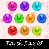 Free Earth Day Embellishments, Scrapbook Downloads, Printables, Kit