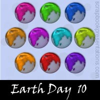 Free Earth Day SnagIt Stamps, Scrapbooking Printables Download