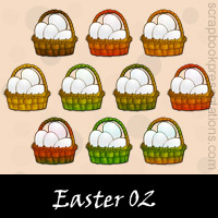Free Easter Embellishments, Scrapbook Downloads, Printables, Kit