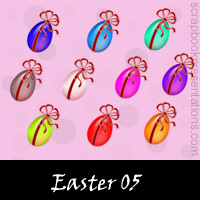Free Easter Scrapbook Embellishments