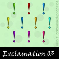 Free Exclamation Embellishments, Scrapbook Downloads, Printables, Kit