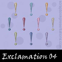 Free Exclamation SnagIt Stamps, Scrapbooking Printables Download
