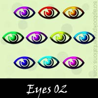 Free Eye Embellishments, Scrapbook Downloads, Printables, Kit
