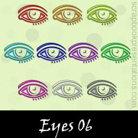 Free Eyes SnagIt Stamps, Scrapbooking Printables Download