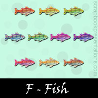 Free Fish SnagIt Stamps, Scrapbooking Printables Download