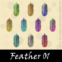 Free Feather SnagIt Stamps, Scrapbooking Printables Download