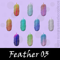 Free Feather Embellishments, Scrapbook Downloads, Printables, Kit