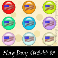 United States Flag Day Snagit Stamps