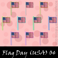 United States Flag Day Scrapbook Embellishments