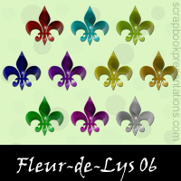 Free Fleur-de-Lys SnagIt Stamps, Scrapbooking Printables Download