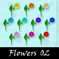 Free Flowers Embellishments, Scrapbooking Printables Download