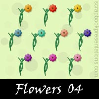 Free Flowers Embellishments, Scrapbook Downloads, Printables, Kit