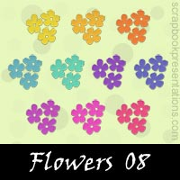 Free Flowers SnagIt Stamps, Scrapbooking Printables Download