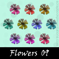 Free Flower Scrapbook Embellishments