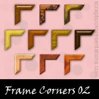 Free Frame Corners Embellishments, Scrapbooking Printables Download