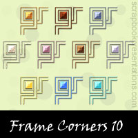 Free Frame Corner Embellishments, Scrapbook Downloads, Printables, Kit