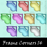Free Frame Corners SnagIt Stamps, Scrapbooking Printables Download