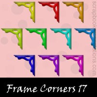 Free Frame Corners Embellishments, Scrapbook Downloads, Printables, Kit