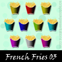 Free French Fries SnagIt Stamps, Scrapbooking Printables Download
