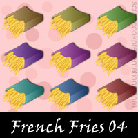 Free French Fries Embellishments, Scrapbook Downloads, Printables, Kit