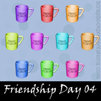 Free Friendship Day SnagIt Stamps, Scrapbooking Printables Download