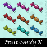 Free Fruit Candy SnagIt Stamps, Scrapbooking Printables Download