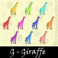Free Giraffe Embellishments, Scrapbook Downloads, Printables, Kit