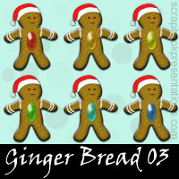 Free Ginger Bread SnagIt Stamps, Scrapbooking Printables Download