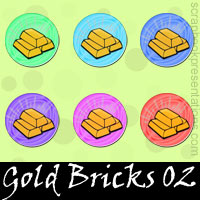 Free Gold Bricks SnagIt Stamps, Scrapbooking Printables Download